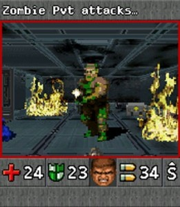 DOOM RPG is not actually discussed in this article.  It is a joke about the melding of RPGs and First Person Shooters you see.  It is used as a comical presentation of the juxtaposition of penises.